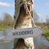 Shabby Chic 'Wedding'  Sign